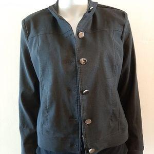 Buttoned light jacket shiny fabric San Francisco